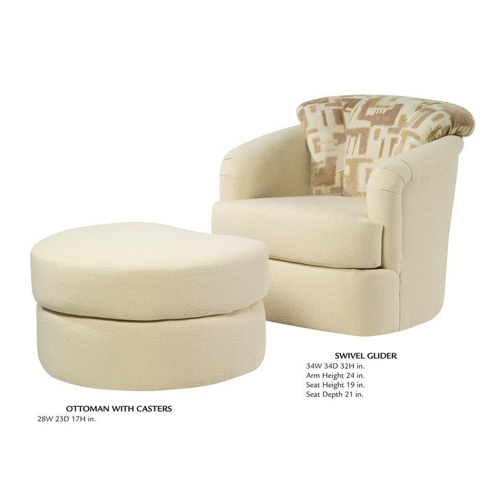 Round Swivel Living Room Chair Inside Cuddler Swivel Sofa Chairs (Image 13 of 20)
