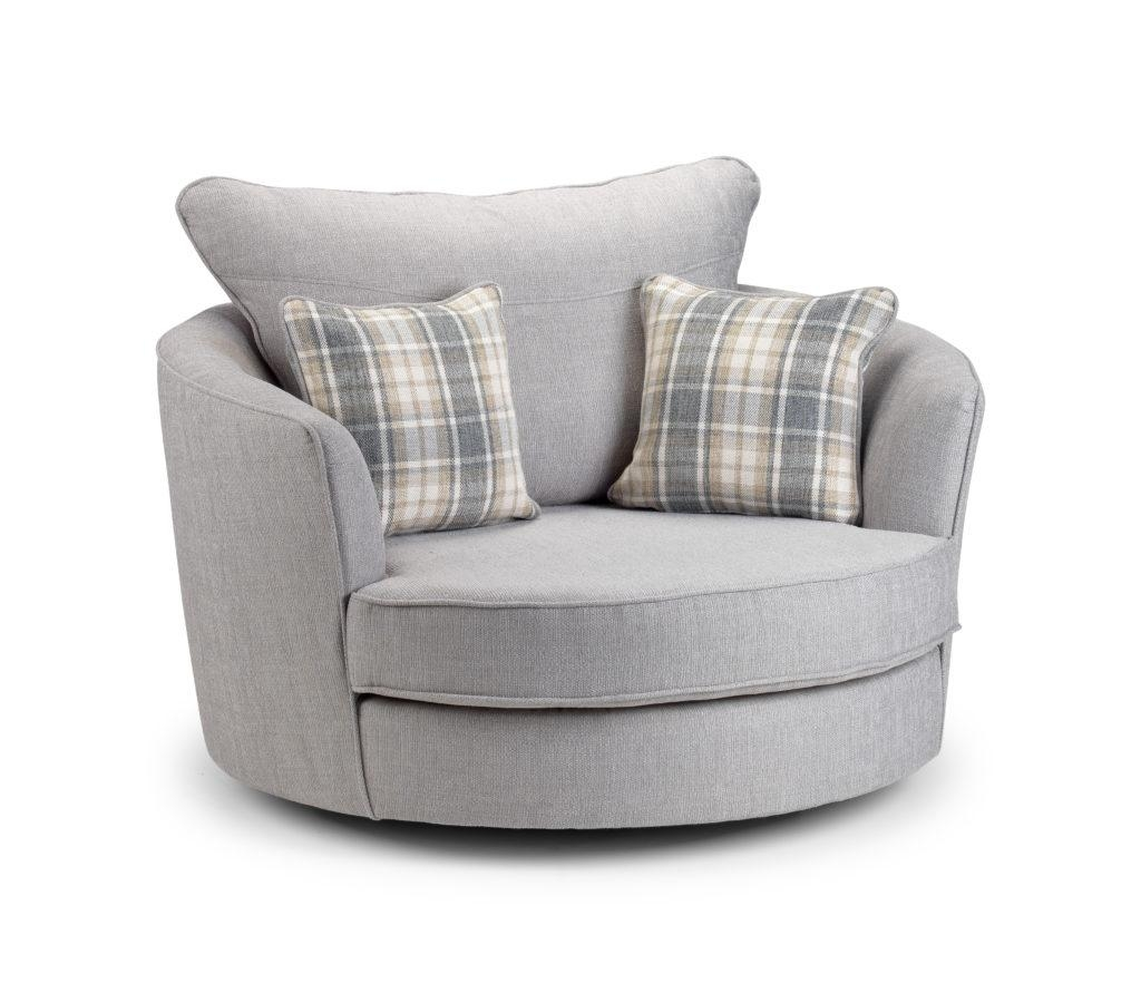 Round Swivel Sofa Chair 91 With Round Swivel Sofa Chair Regarding Spinning Sofa Chairs (View 11 of 20)