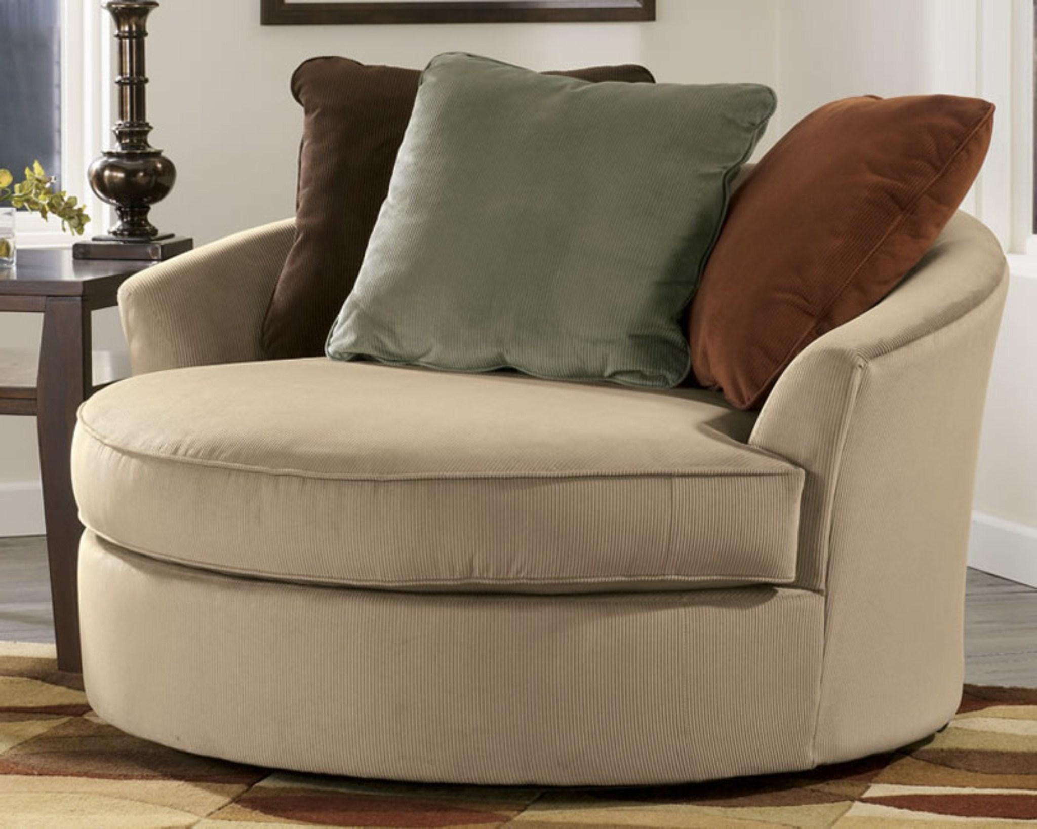 Round Swivel Sofa Chair – Leather Sectional Sofa Intended For Round Swivel Sofa Chairs (Image 9 of 20)