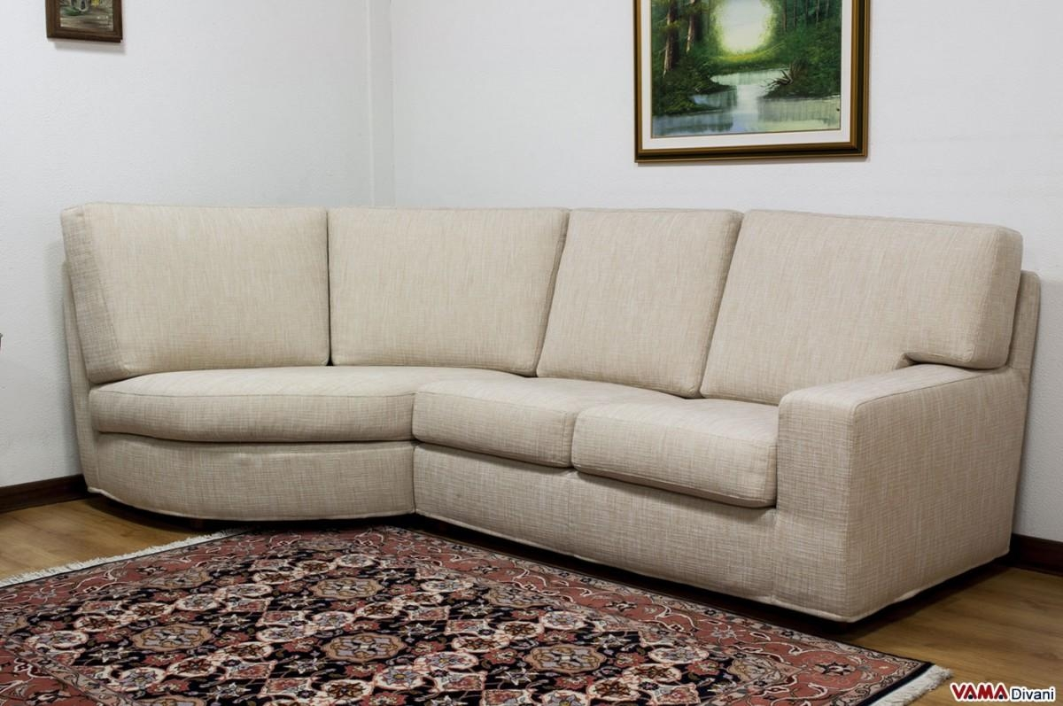 Rounded Corner Fabric Sofa With Removable Cover Within Rounded Sofa (Image 15 of 20)