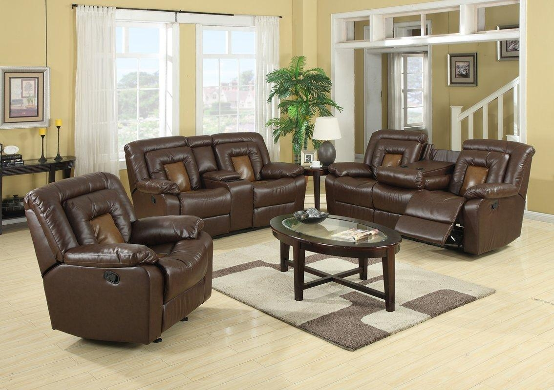 Roundhill Furniture Kmax 2 Piece Reclining Sofa And Loveseat Set Within Reclining Sofas And Loveseats Sets (Image 15 of 20)