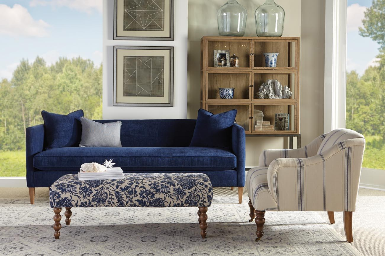 "Rowe Claire 86"" Bench Cushion Sofa – Belfort Furniture – Sofas In Bench Cushion Sofas (Image 16 of 20)"