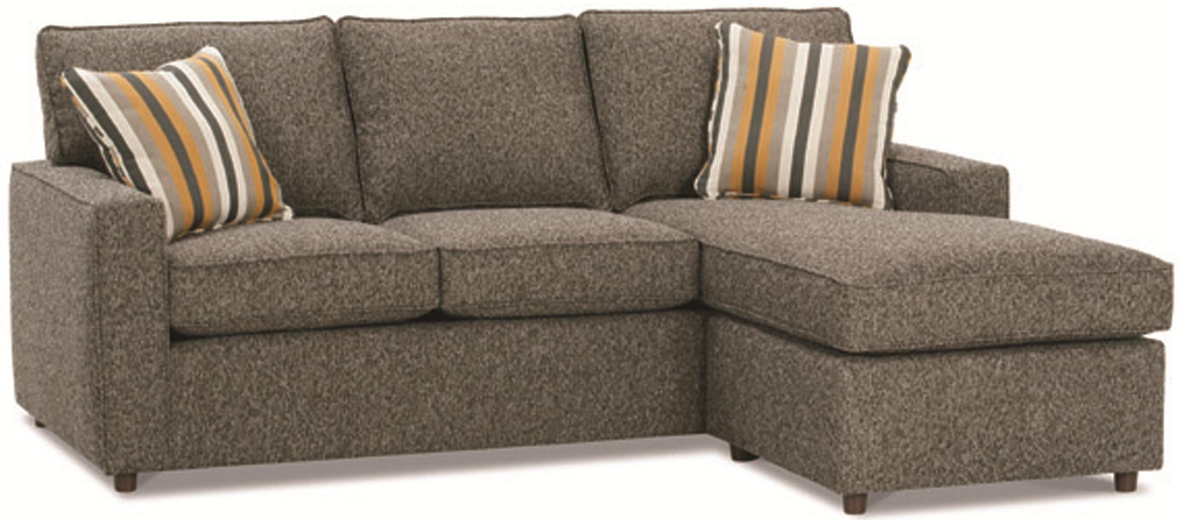 Rowe Monaco Contemporary Sofa With Reversible Chaise Ottoman For Rowe Sectional Sofas (Photo 12 of 20)
