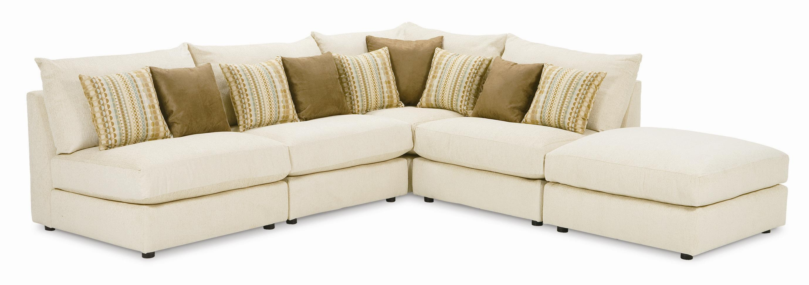 Rowe Tempo Five Piece Armless Sectional Sofa – Ahfa – Sofa Throughout Individual Piece Sectional Sofas (Image 12 of 20)