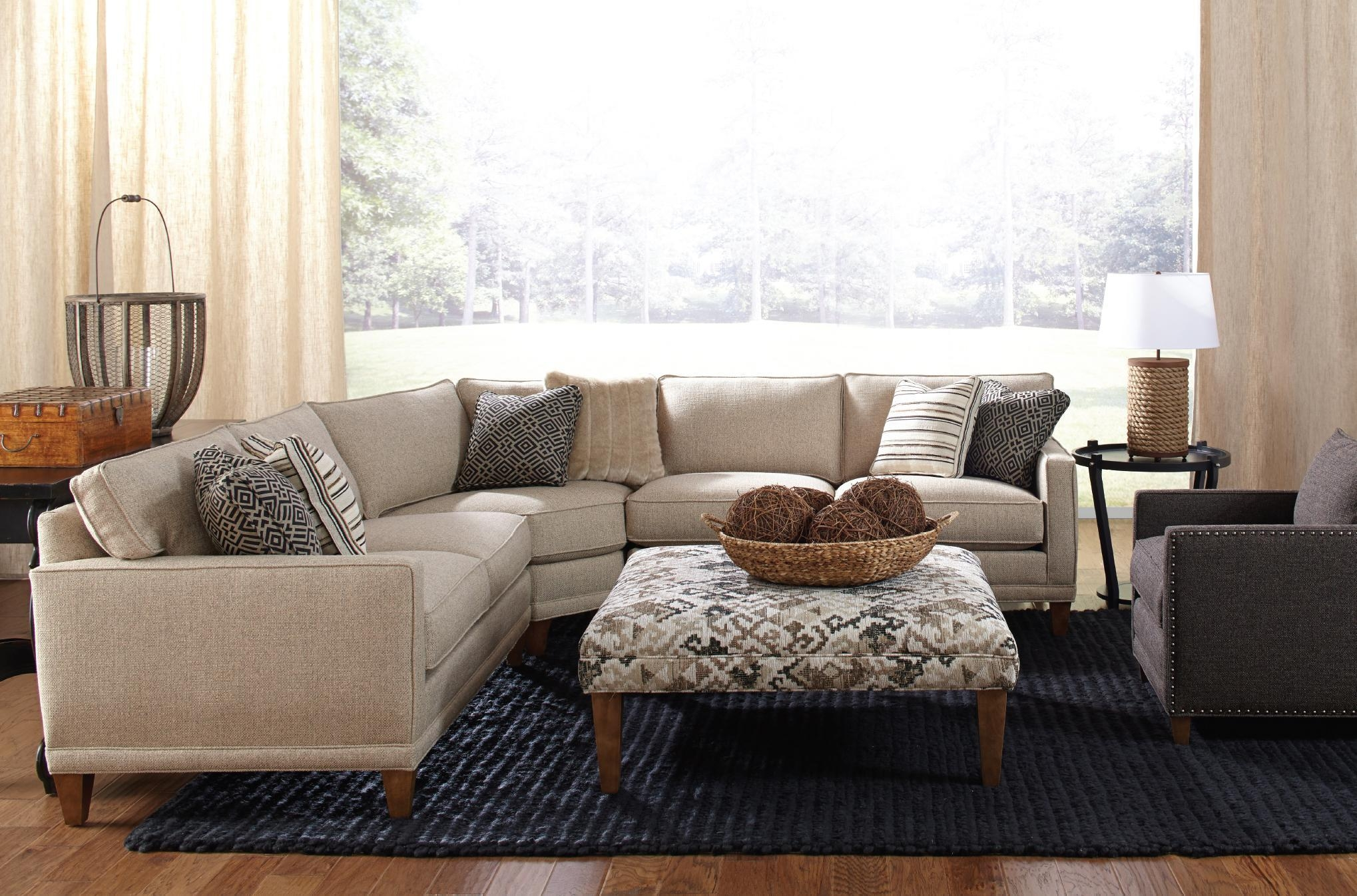Rowe Townsend Casual Three Piece Sectional Sofa – Belfort Intended For Rowe Sectional Sofas (View 3 of 20)