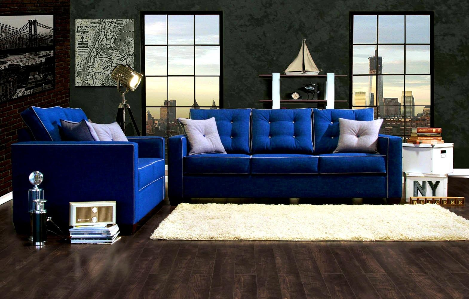 Royal Blue Couch (Image 20 of 20)