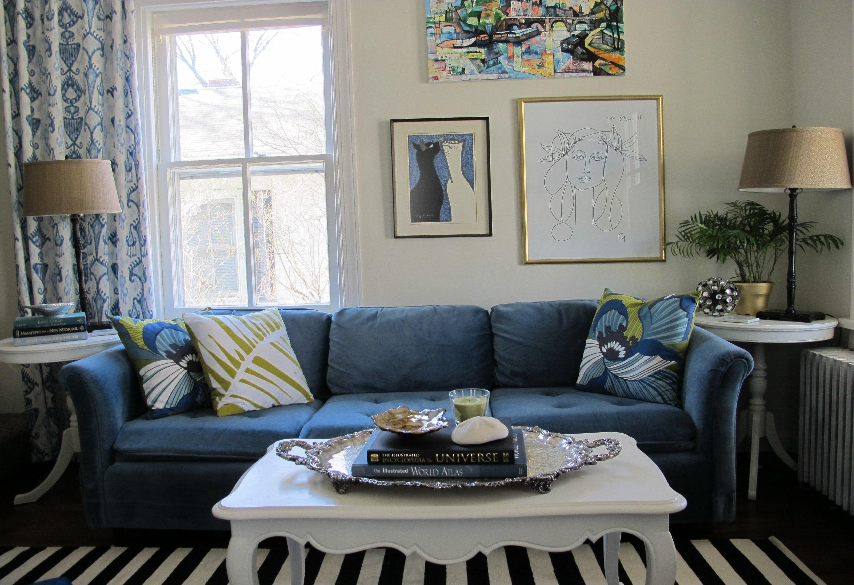 Royal Blue Sofa (View 18 of 20)