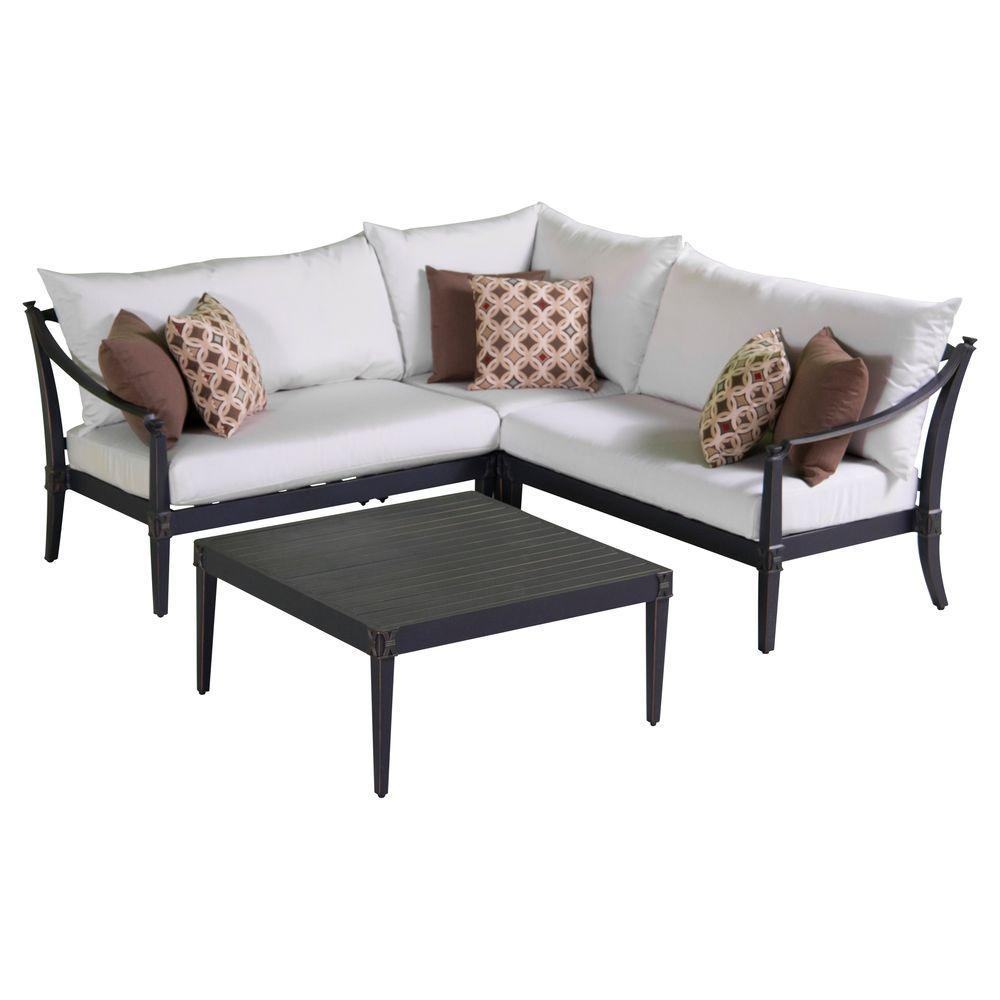Rst Brands Astoria 4 Piece Patio Corner Sectional And Conversation Pertaining To Conversation Sectional (Image 8 of 15)