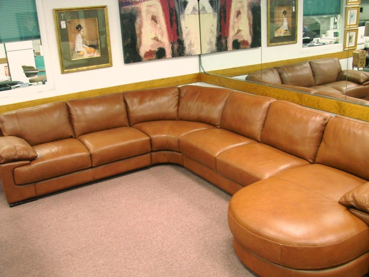 Rust Colored Sofa Rust Sofa Thesofa – Thesofa Throughout Colored Sectionals (Image 11 of 15)