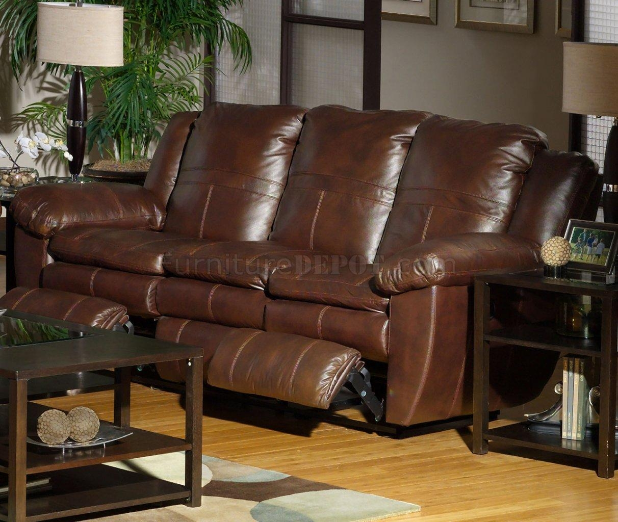 Sable Top Grain Leather Sonoma Reclining Sofa /options In Catnapper Recliner Sofas (View 10 of 20)
