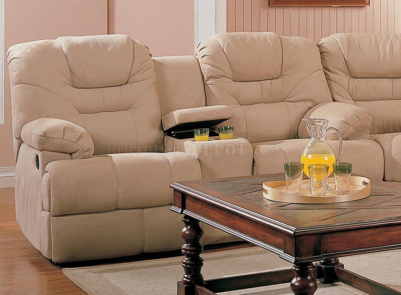 Saddle Fabric Stylish Modern Reclining Sectional Sofa Pertaining To Modern Reclining Sectional (Image 16 of 20)