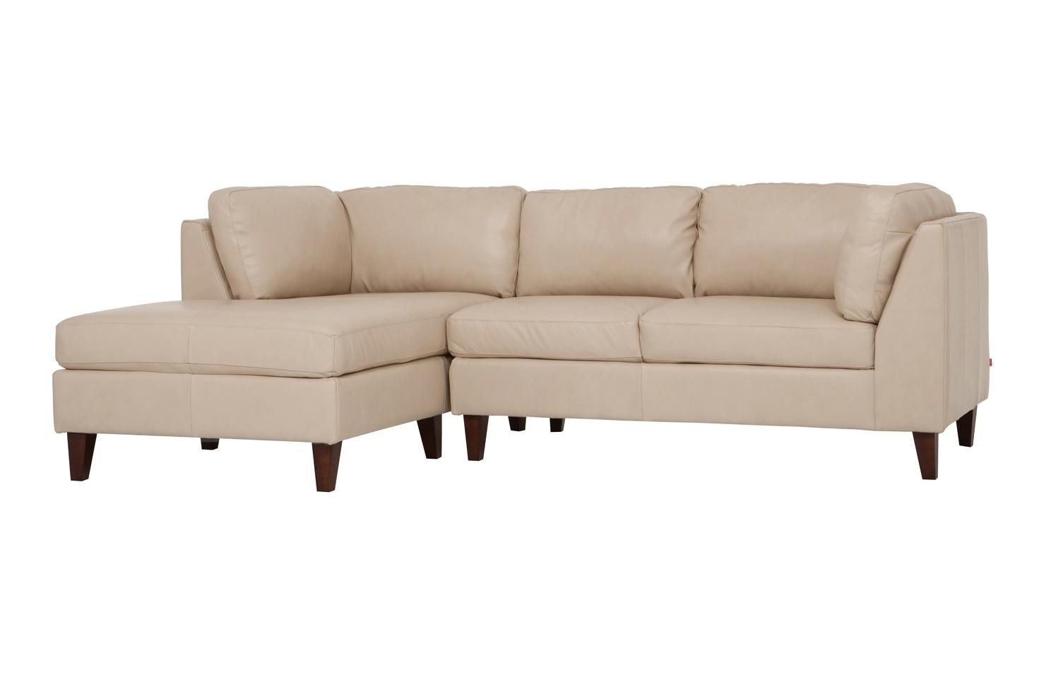 Salema Leather 2 Piece Sectional Sofa With Chaise | Viesso Intended For Sectional Sofa With 2 Chaises (Image 17 of 20)