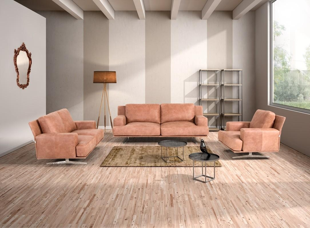 Salotti Foster Modern Cognac Italian Leather Sofa Set In Foster Leather Sofas (Image 20 of 20)