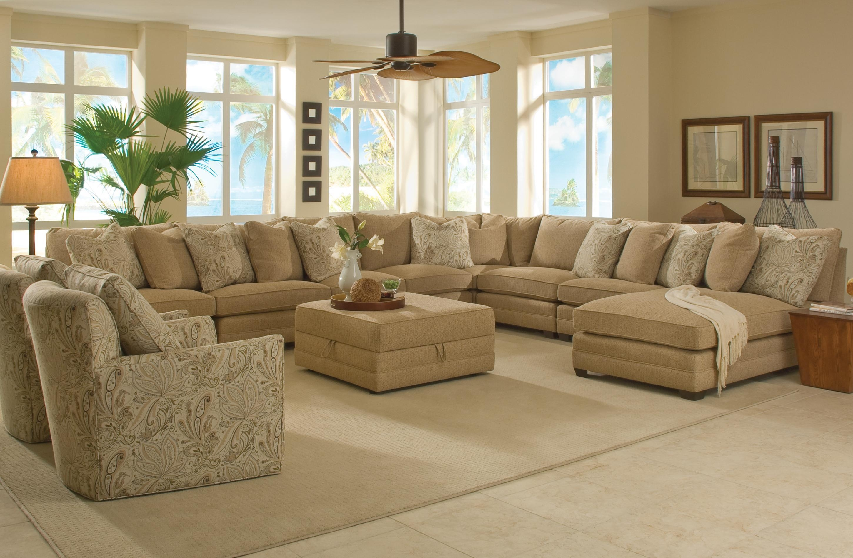 Sam Moore Margo Wide Sectional Sofa | Moore's Home Furnishings Intended For Sam Moore Sofas (Image 9 of 20)
