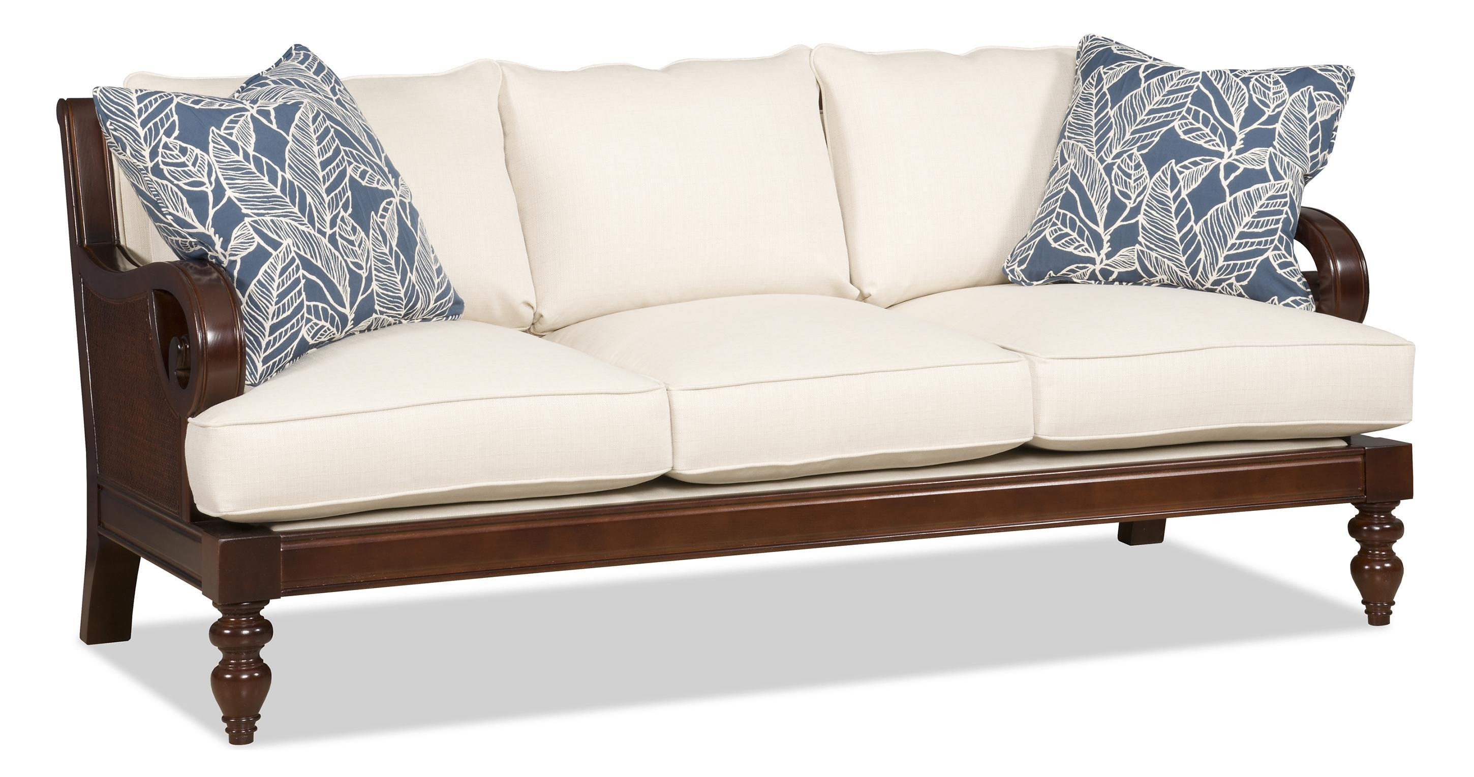 Sam Moore Tailynn Tropical Sofa With Exposed Wood And Scrolled Pertaining To Sam Moore Sofas (Image 15 of 20)