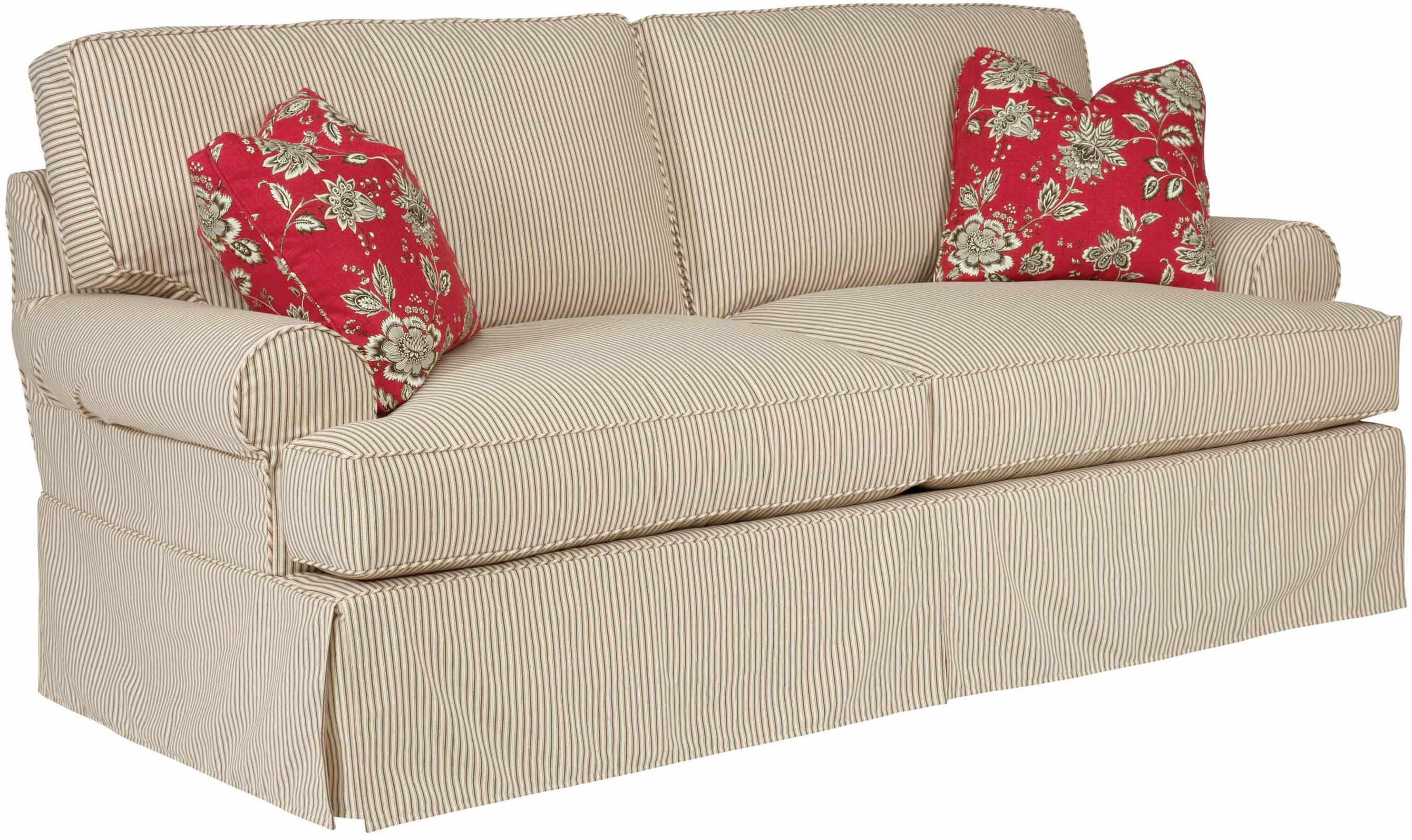 Samantha Two Seat Sofa With Slipcover Tailoring & Loose Pillow Intended For Loose Pillow Back Sofas (Image 14 of 20)
