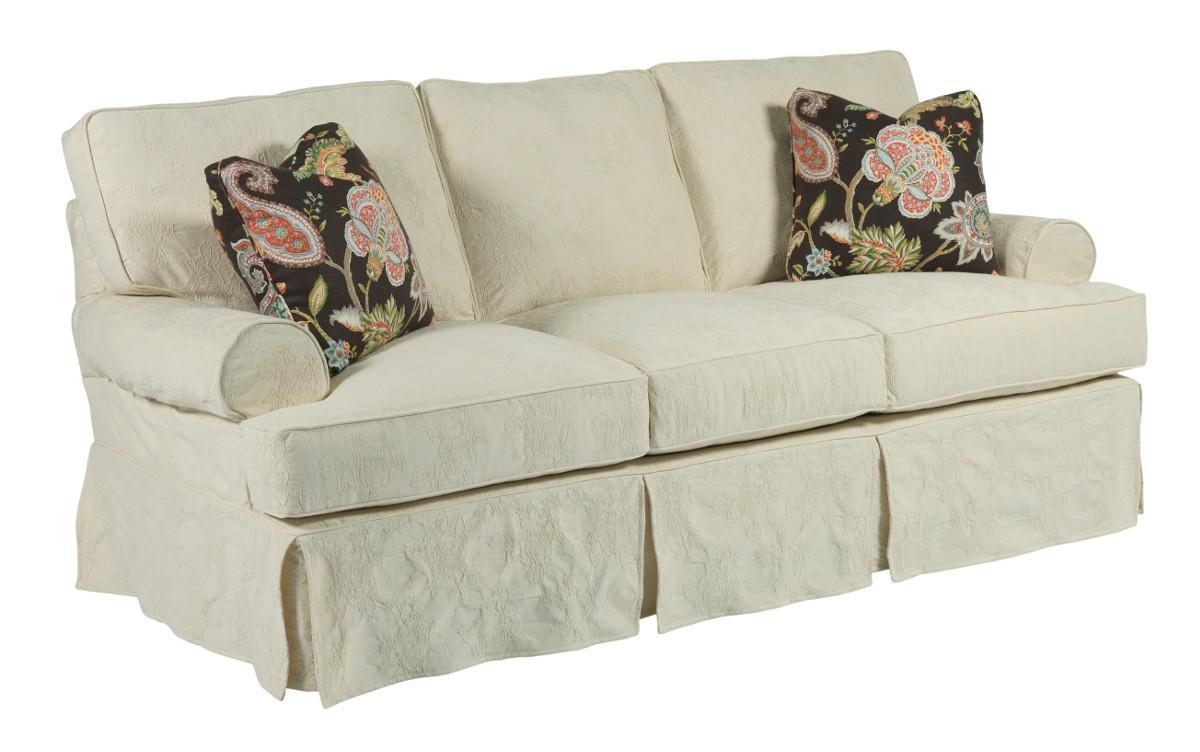 Samantha Two Seat Sofa With Slipcover Tailoring & Loose Pillow With Regard To Loose Pillow Back Sofas (Image 15 of 20)
