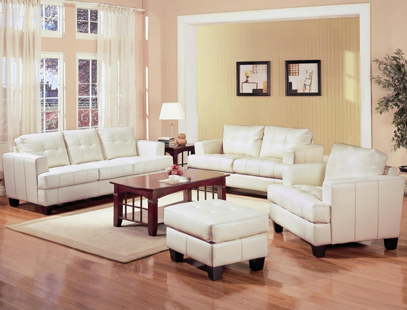Samuel Beige Leather Sofa – Steal A Sofa Furniture Outlet Los With Beige Leather Couches (Image 19 of 20)