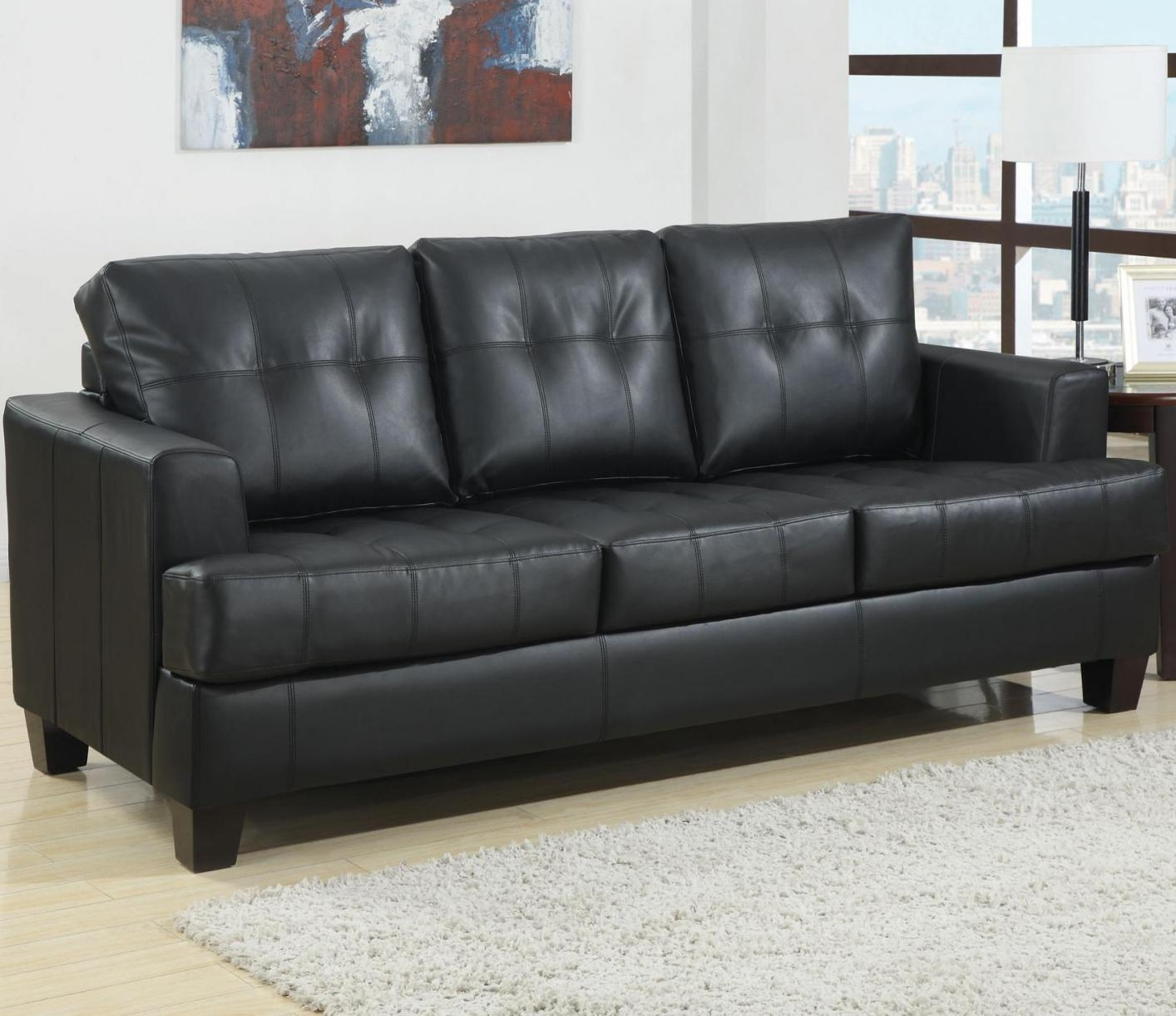 Samuel Black Leather Sofa Bed – Steal A Sofa Furniture Outlet Los In Los Angeles Sleeper Sofas (View 3 of 20)