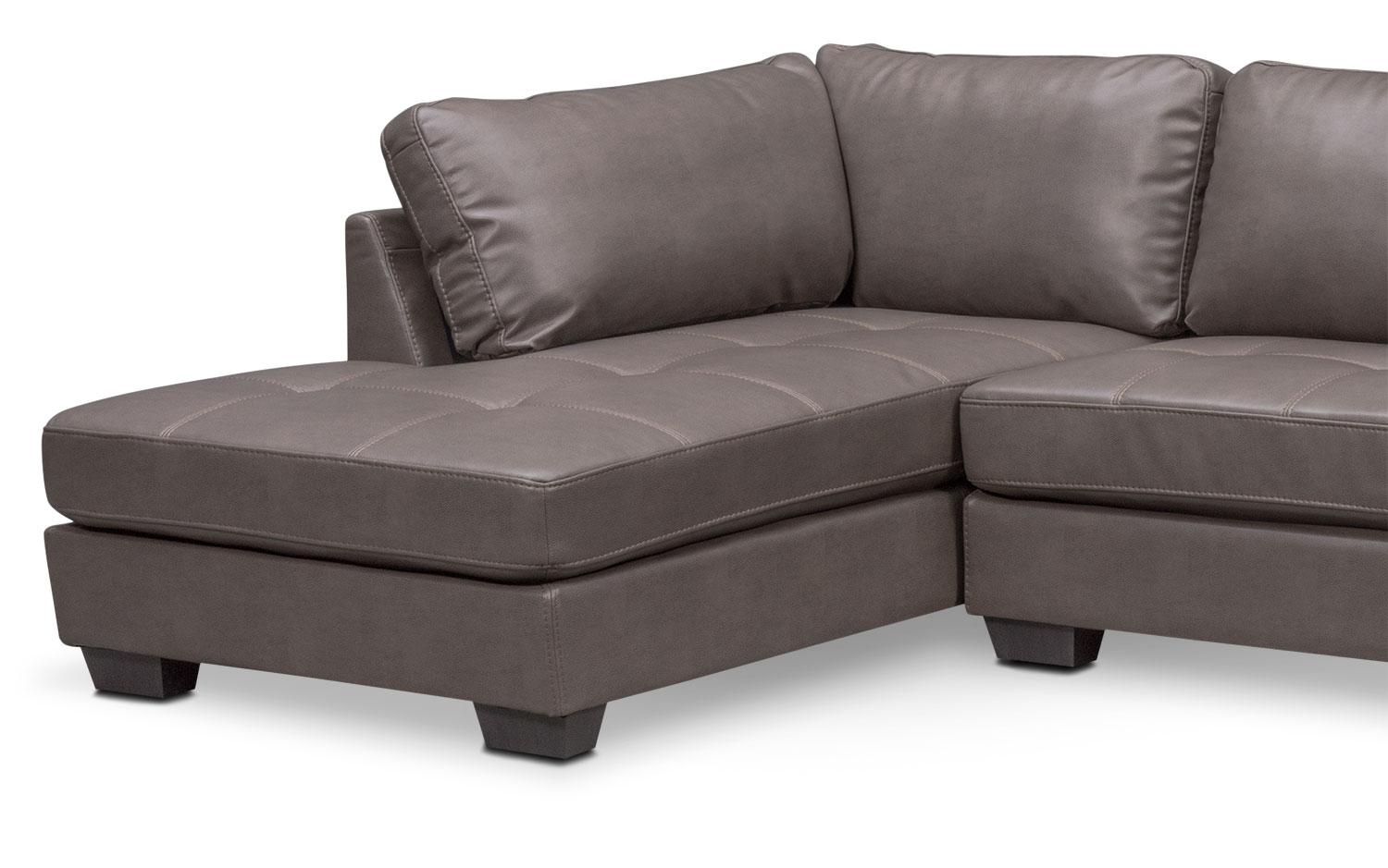 Santana 2 Piece Sectional With Left Facing Chaise – Gray Regarding Sectional With 2 Chaises (Image 12 of 20)