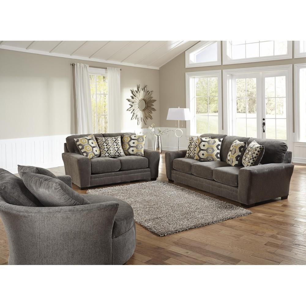 Sax Living Room – Sofa & Loveseat – Grey (32970) : Living Room Pertaining To Living Room Sofas (View 3 of 20)