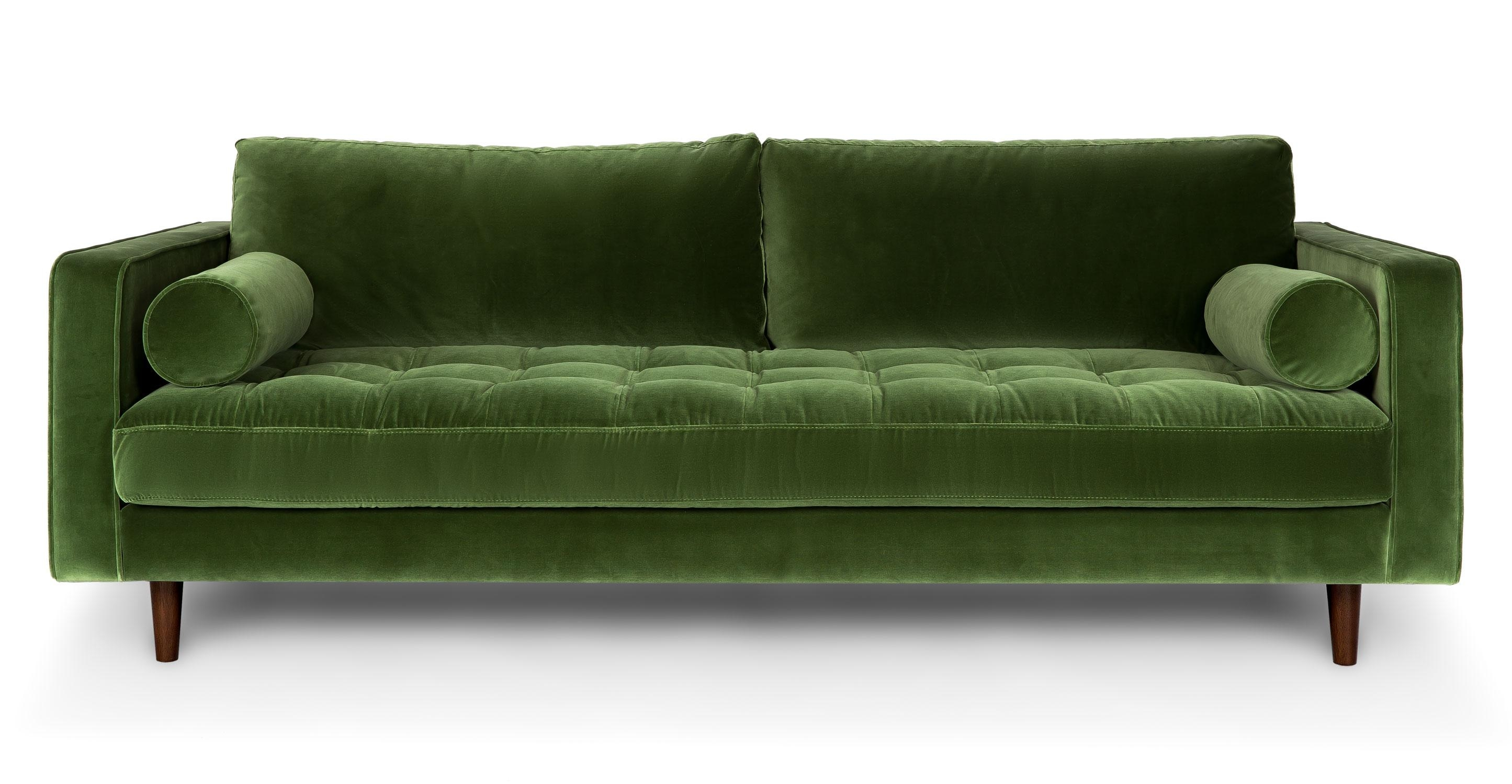 Scandinavian Sofa Green – Ftfpgh Throughout Green Sofas (Image 16 of 20)