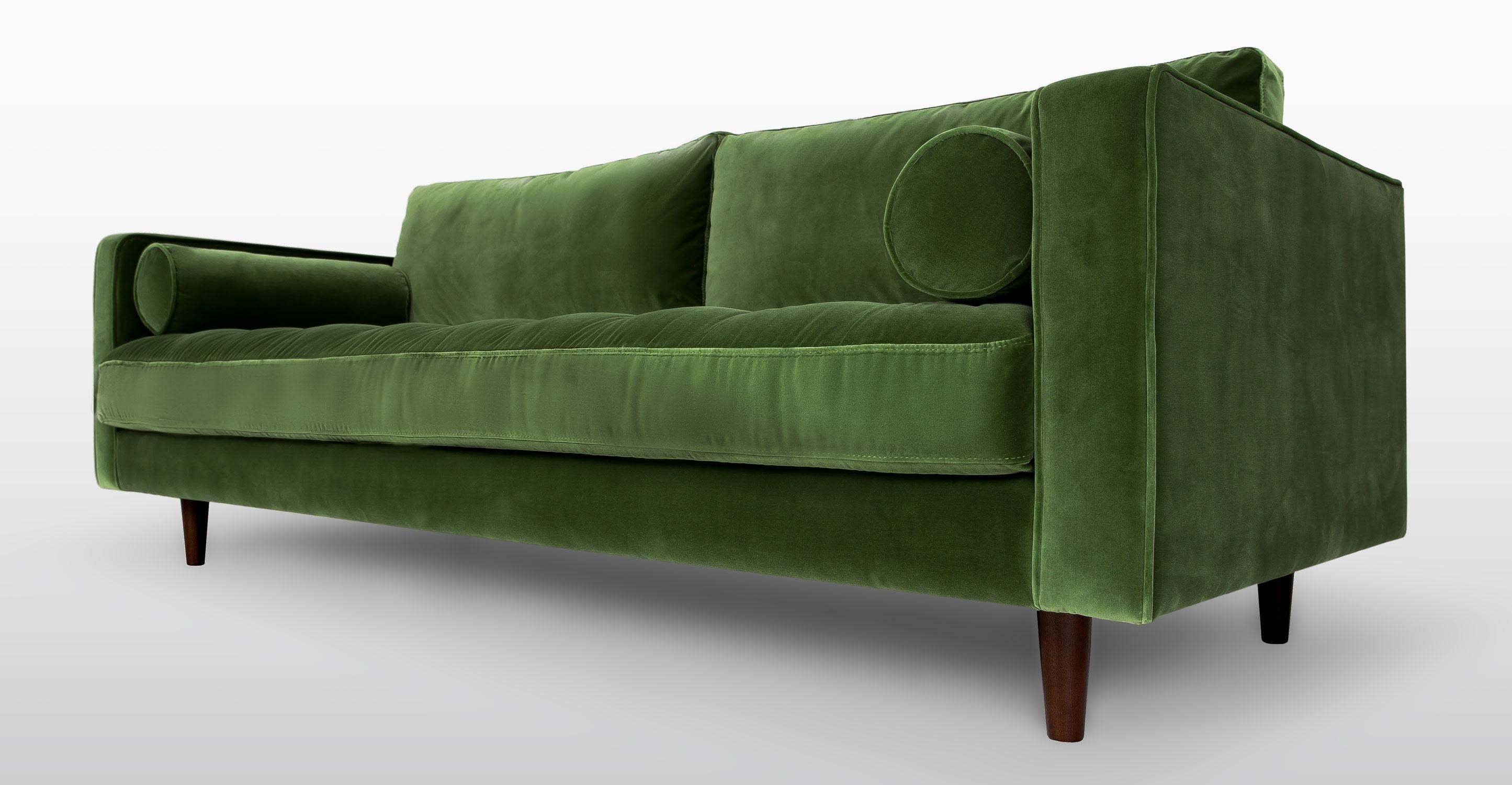 Scandinavian Sofa Green – Ftfpgh Within Green Sofas (View 5 of 20)