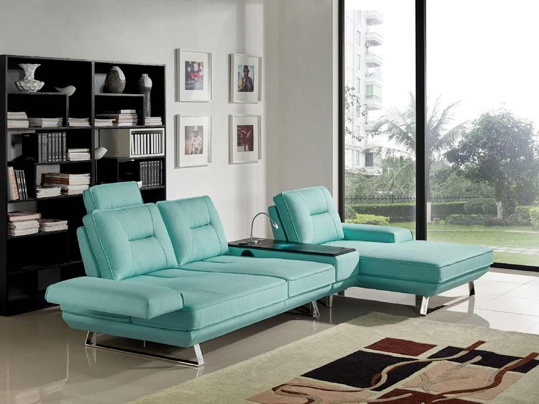Seafoam Fabric Sectional Sofa Ds 471 | Fabric Sectional Sofas For Seafoam Sofas (View 5 of 20)