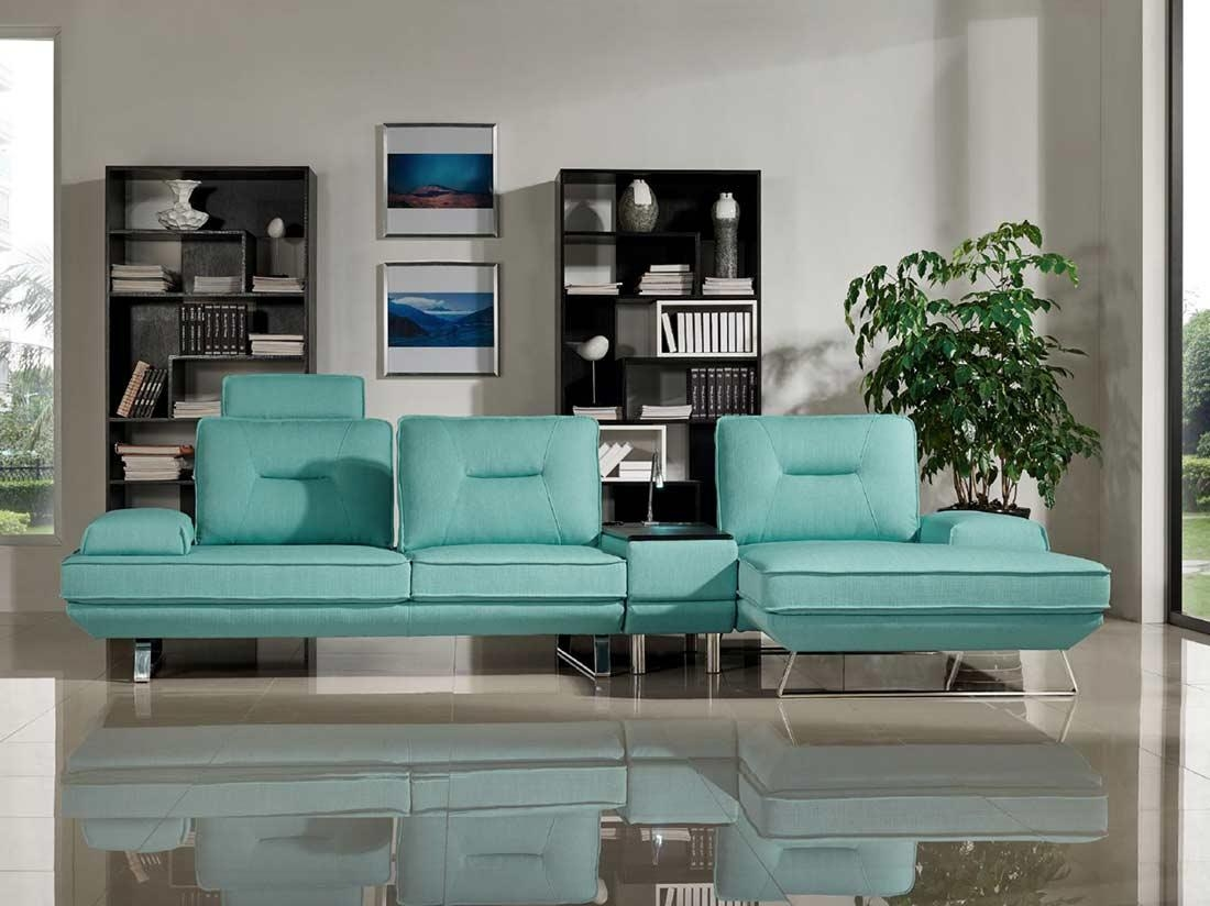 Seafoam Fabric Sectional Sofa Ds 471 | Fabric Sectional Sofas In Seafoam Sofas (View 19 of 20)