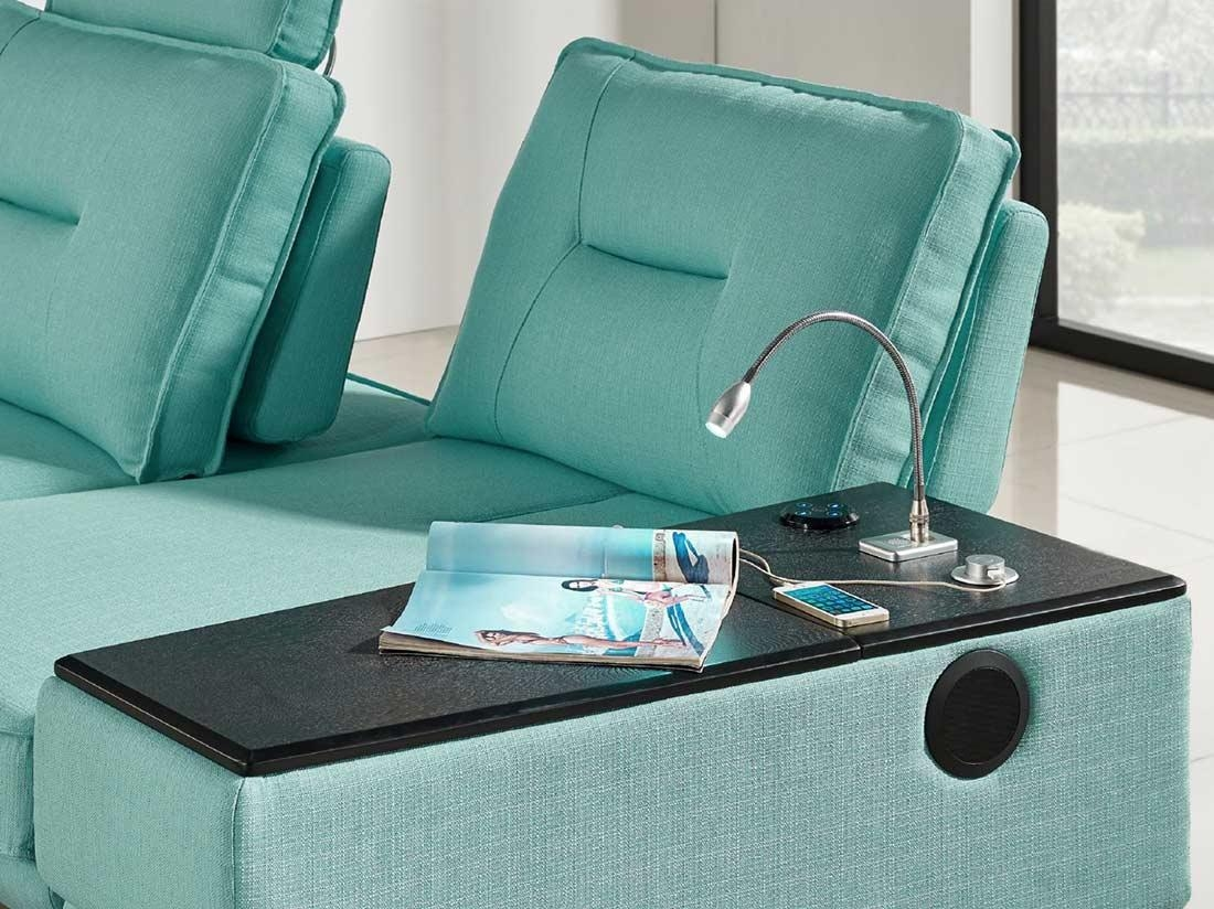 Seafoam Fabric Sectional Sofa Ds 471 | Fabric Sectional Sofas Inside Seafoam Sofas (Image 12 of 20)