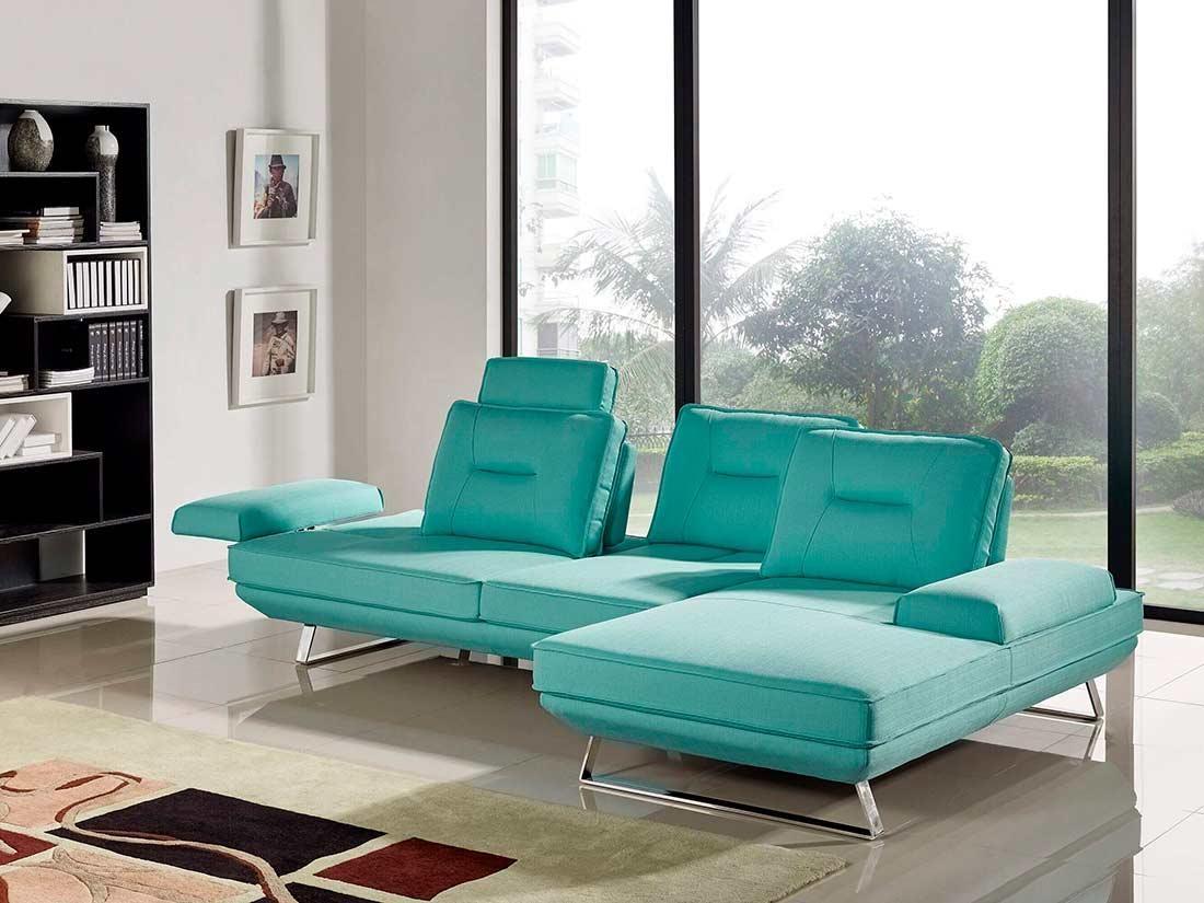 Seafoam Fabric Sectional Sofa Ds 471 | Fabric Sectional Sofas Regarding Seafoam Sofas (Image 13 of 20)