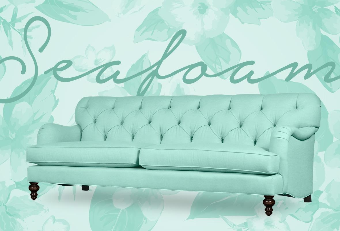Seafoam Green Sofa | Sofa Gallery | Kengire Throughout Seafoam Green Couches (Image 14 of 20)