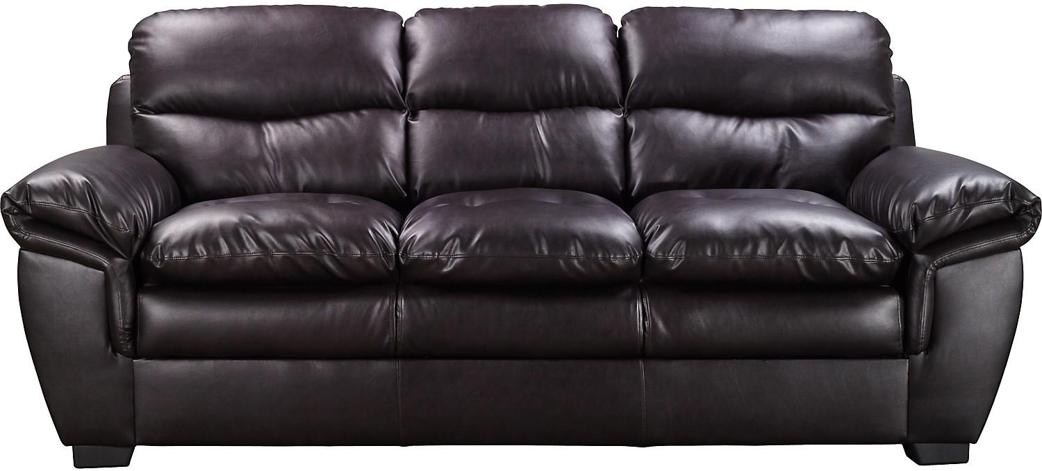 Sealy Leather Sofa | Sofa Gallery | Kengire Pertaining To The Brick Leather Sofa (View 2 of 20)