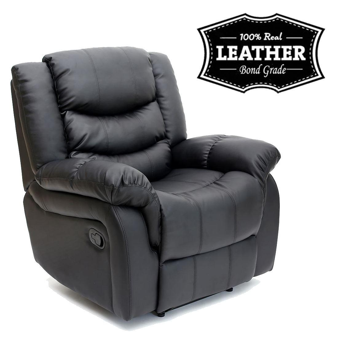 Seattle Leather Recliner Armchair Sofa Home Lounge Chair Reclining Intended For Gaming Sofa Chairs (Image 20 of 20)