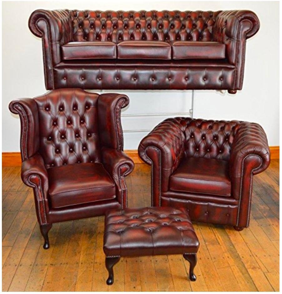 Second Hand Chesterfield Sofa Within Red Leather Chesterfield Chairs (Image 19 of 20)