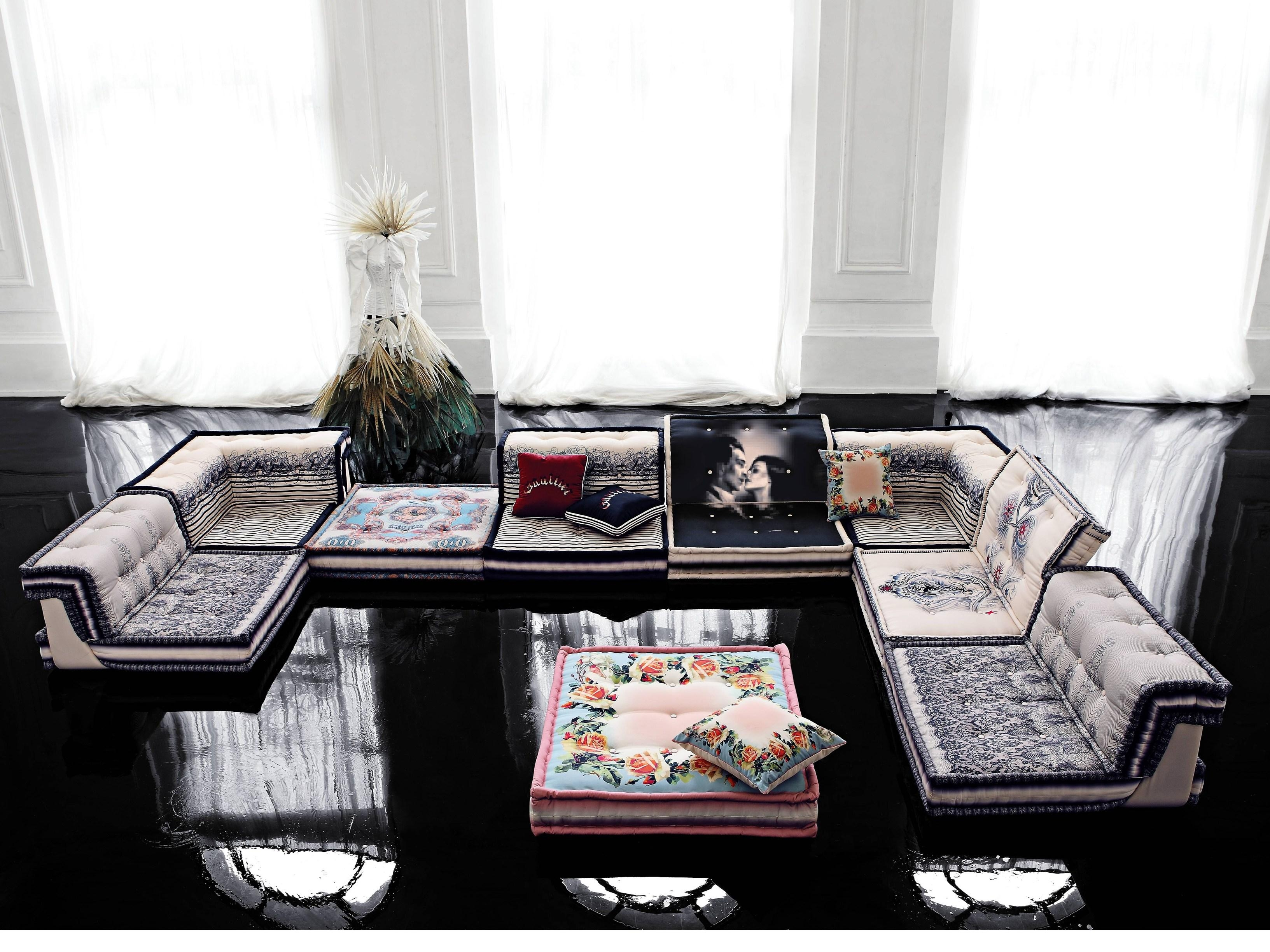 Gallery Of Sectional Fabric Sofa Mah Jong Missoni Homeroche Bobois Design Pertaining To Roche Sofas With