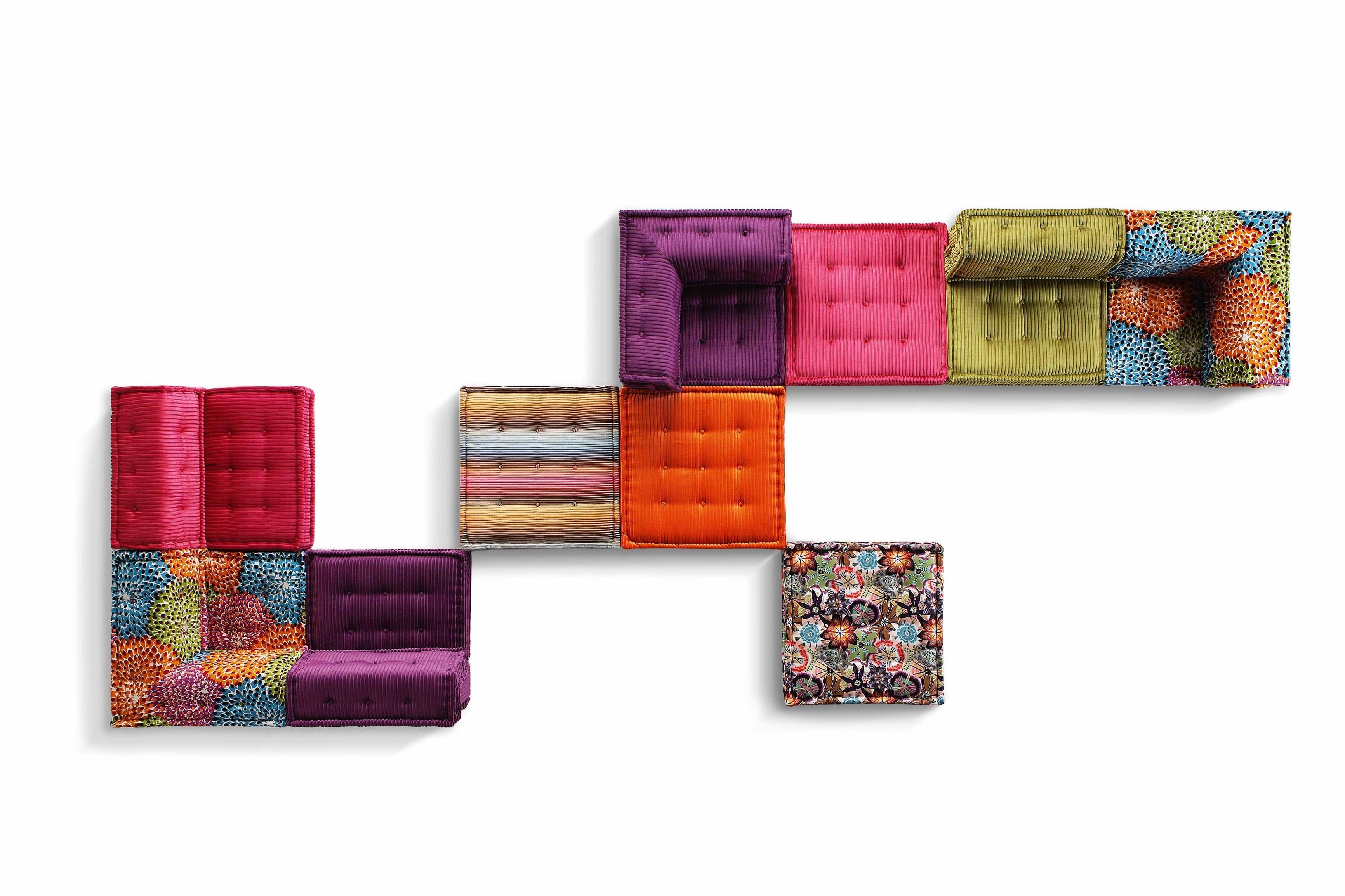 Sectional Fabric Sofa Mah Jong Missoni Homeroche Bobois Design Regarding Roche Bobois Mah Jong Sofas (Image 18 of 20)