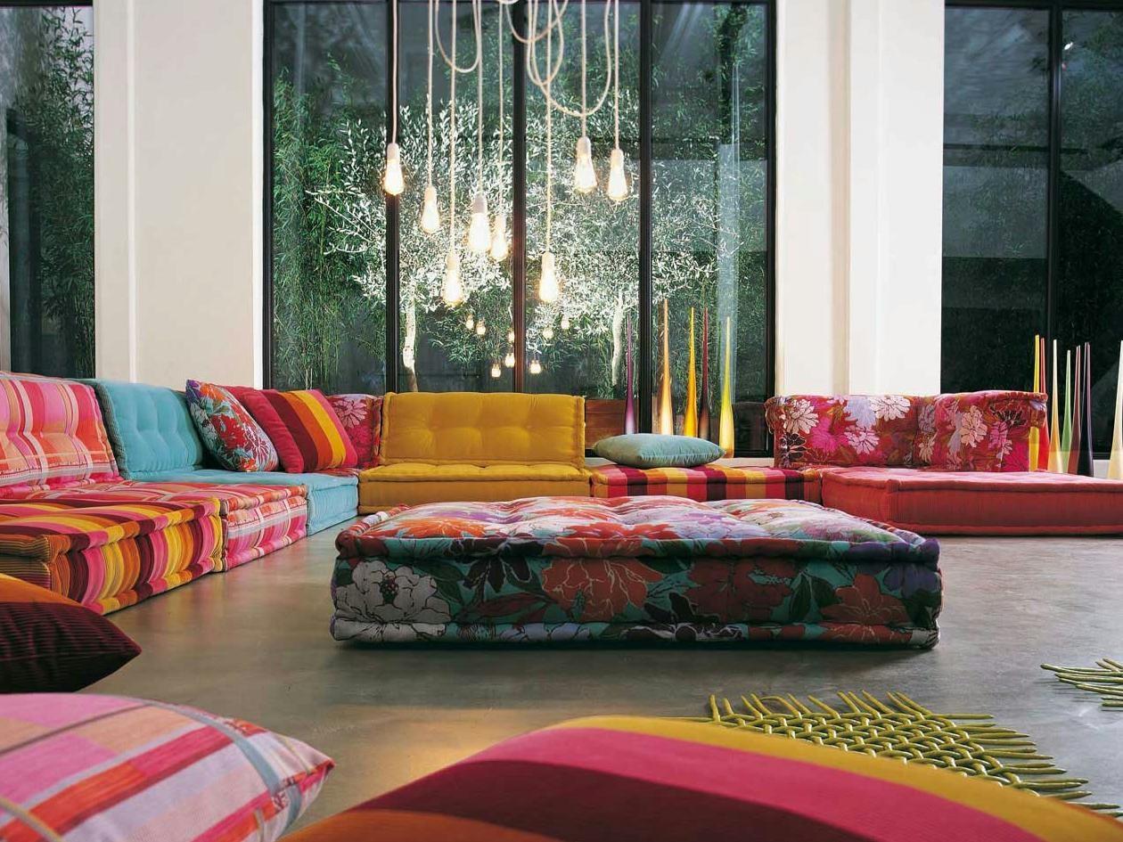 Sectional Fabric Sofa Mah Jong Missoni Homeroche Bobois Design With Regard To Roche Bobois Mah Jong Sofas (Image 19 of 20)