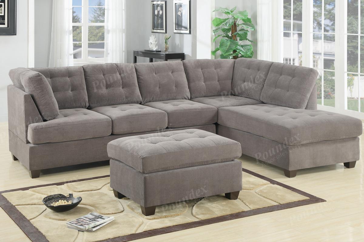 Sectional | Sectional Sofa | Bobkona Furniture | Showroom Regarding Poundex Sofas (View 18 of 20)
