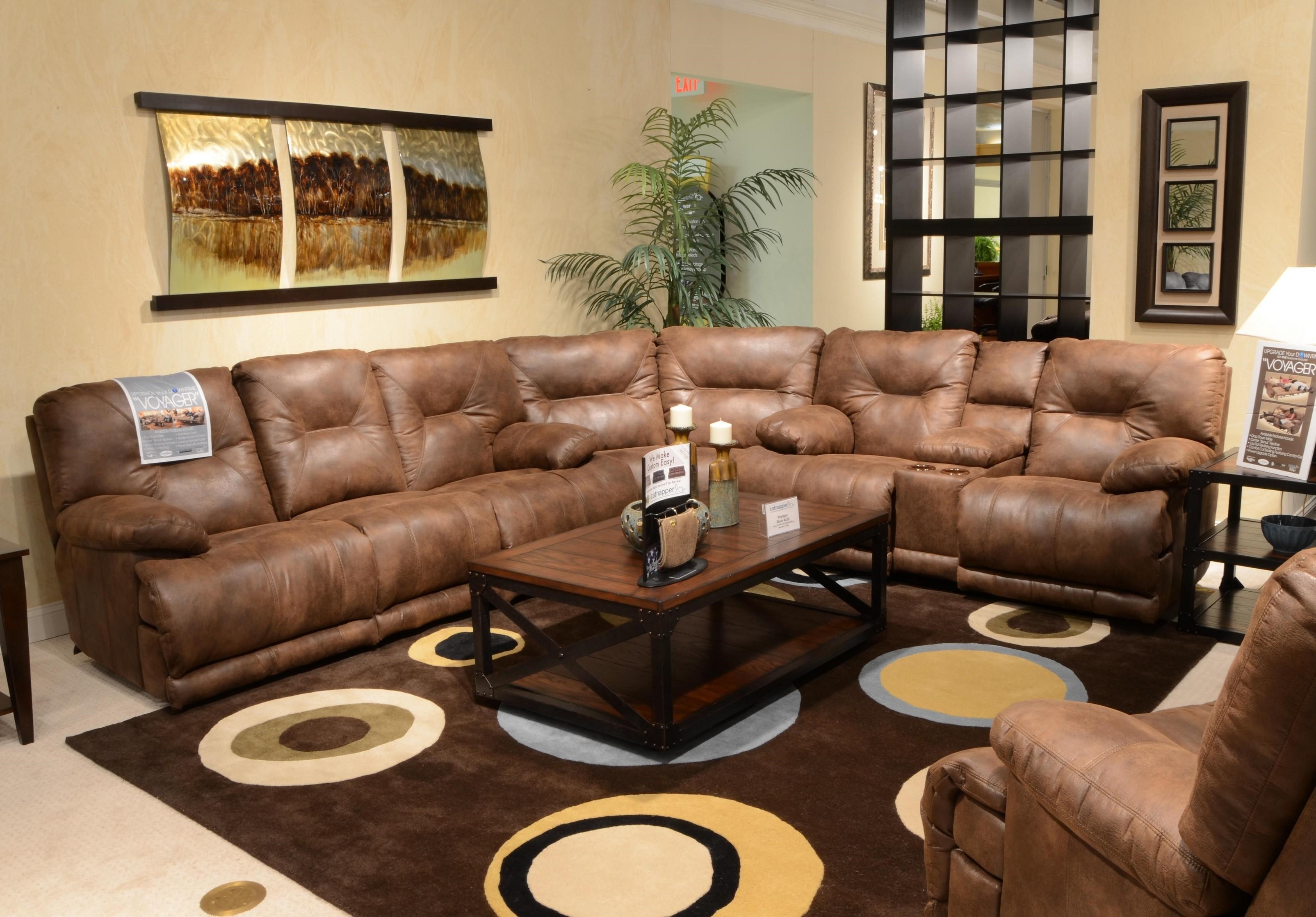 Sectional Sleeper Sofa With Recliners | Sofa Gallery | Kengire Throughout Sectional With Recliner And Sleeper (Image 12 of 20)