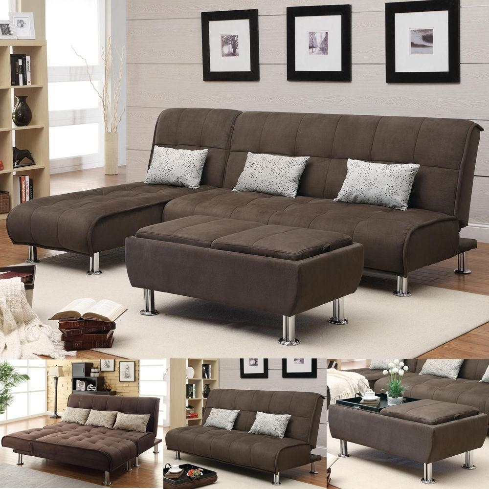 Sectional Sofa Beds – Creditrestore Throughout Microsuede Sofa Beds (Image 12 of 20)