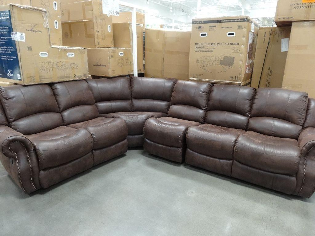 Sectional Sofa Design : Top Collection Gray Sectional Sofa Costco For Costco Leather Sectional Sofas (Image 17 of 20)