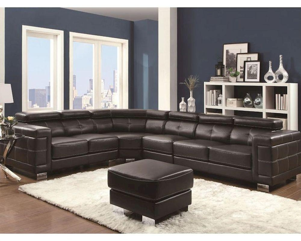 Sectional Sofa W/ Adjustable Headrests Ralston Co 503625 With Regard To Coaster Sectional Sofas (Image 19 of 20)