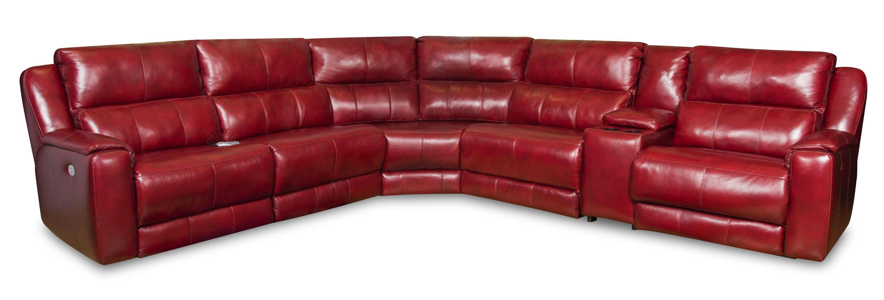 Sectional Sofa With 5 Seats And Cup Holders And Power Headrests Within Sofas With Cup Holders (Image 11 of 20)