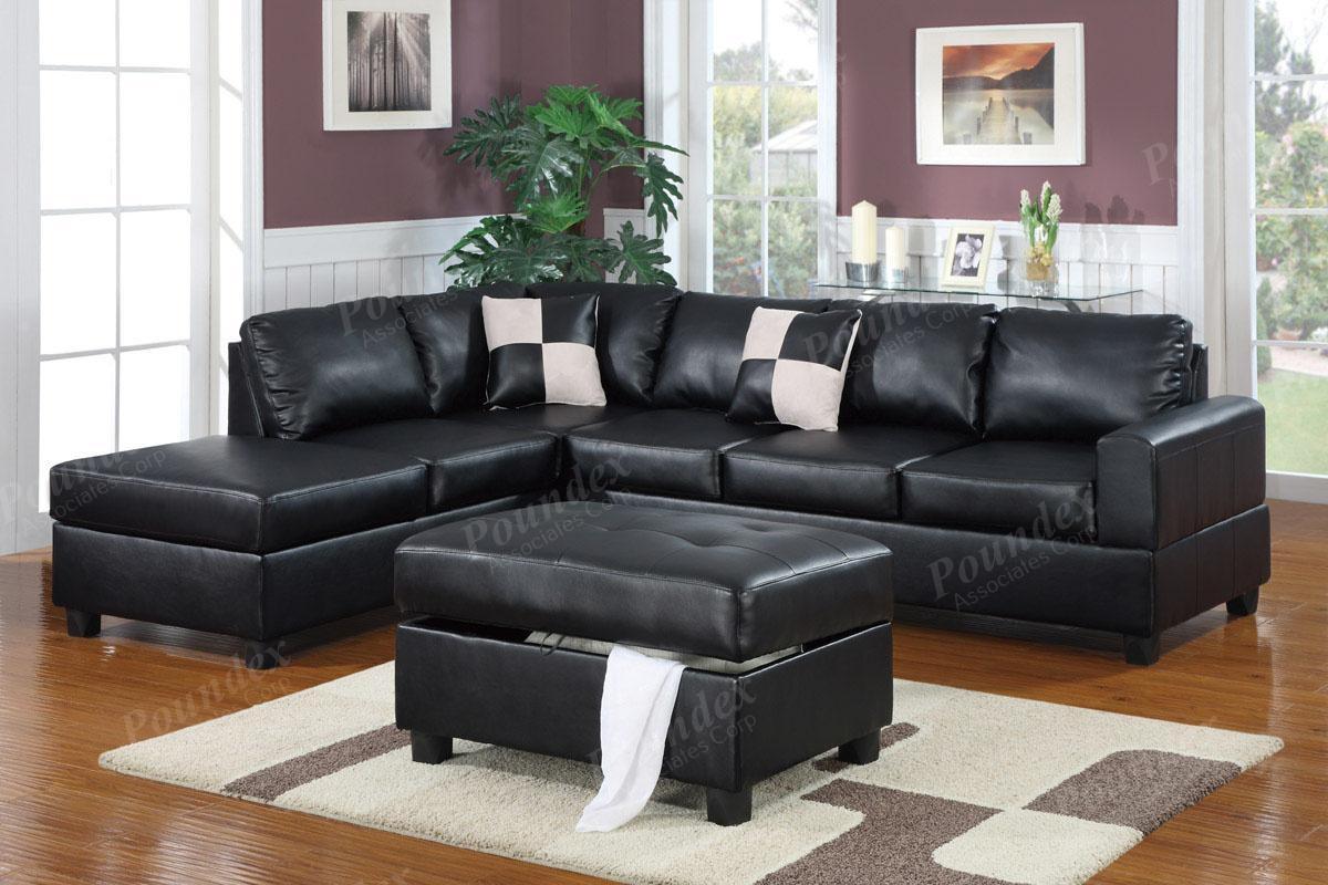 Sectional Sofa With Free Storage Ottoman Ebay Sofa Furniture pertaining to Sectional Sofa With Storage