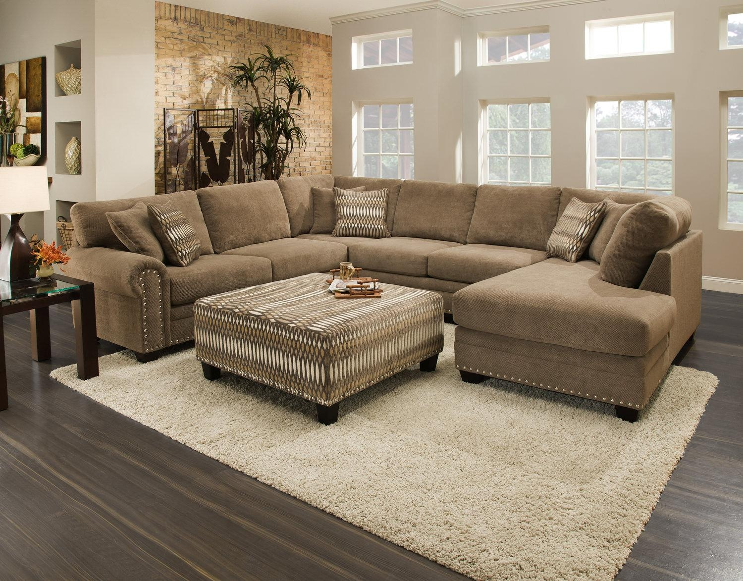 Sectional Sofas – Living Room Seating – Hom Furniture Throughout Wide Seat Sectional Sofas (Image 16 of 20)