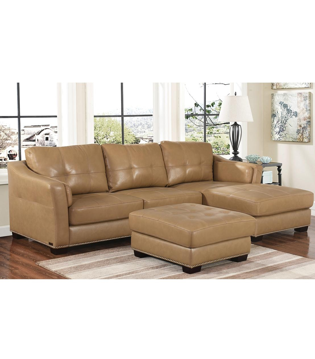 Sectionals : Chelsie Leather Sectional Within Abbyson Sectional Sofas (Image 12 of 20)