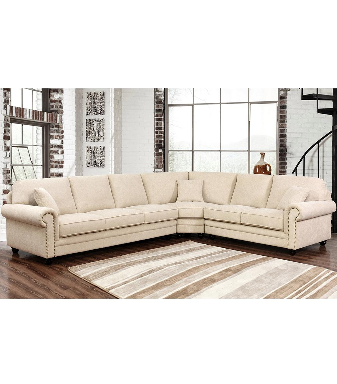 Sectionals : Deana Fabric Sectional Pertaining To Abbyson Sectional Sofa (Image 11 of 15)