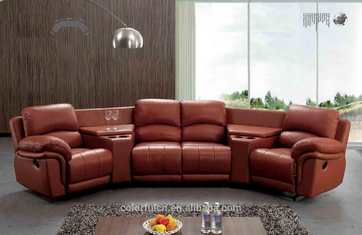 Semi Circle Leather Sofa, Semi Circle Leather Sofa Suppliers And Regarding Circle Sofas (Image 15 of 20)