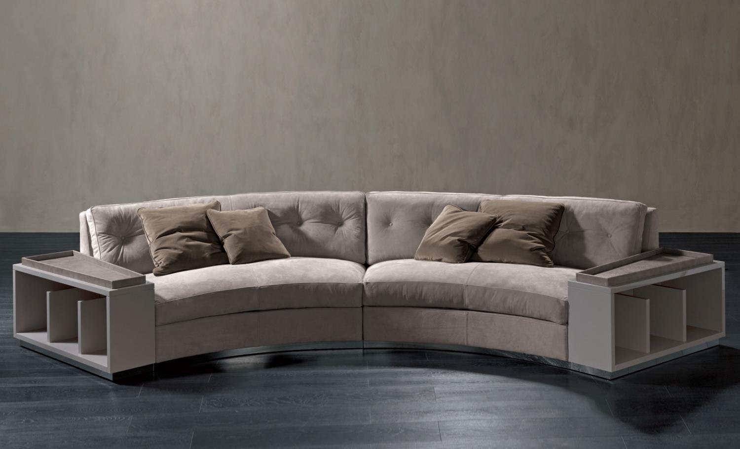 Semi Circular Sofa In Leather Circus, Rugiano – Luxury Furniture Mr Within Semicircular Sofa (Image 9 of 20)